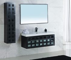 modern haning black vanity mirrors for bathroom with big mirror