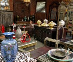 moroccan decoration with antiques