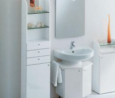 Narrow Vertical Cabinet with STorage fo Maximize Your Small Storage Bathroom