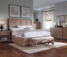 oak bedroom decoration furniture with bench and drawer cabinets