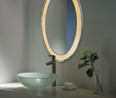 oval bathroom mirrors with lighting