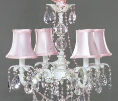 pink crystal shabby chic chandeliers