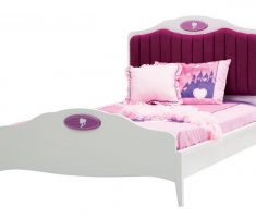 pink an white small double bed for small bedroom girl princess