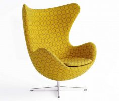 polkadot yellow with transparant line circle black for accent chairs for living room