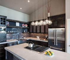 practice kitchen lighting ideas for small kitchen space with mini chandeliers