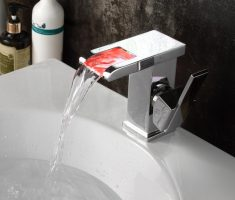 red led vessel sink faucets design