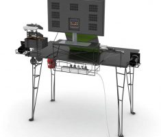 Rear Atlantic Gaming Computer Desk Inspirations Design for Single Monitor
