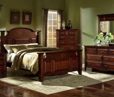 red oak wood queen bedroom sets