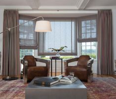 romans living room and window treatments for bay windows suit