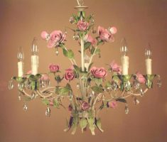 rose floral shabby chic chandeliers design