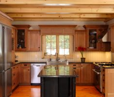 rustic u shaped kitchen design for small space