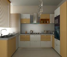 simple u shaped kitchen design for small space
