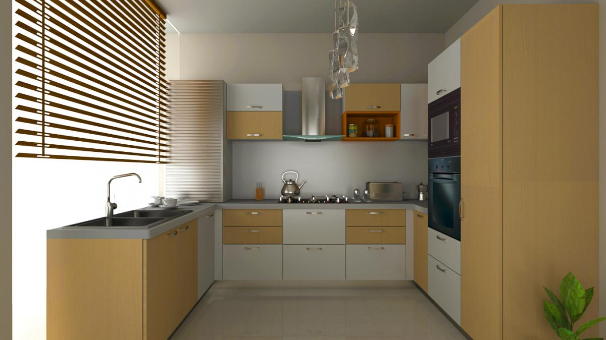 Simple u shaped kitchen design for small space for Kitchen layout designs for small spaces