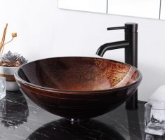 simple vessel sink faucets design black