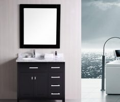 small black vanity mirrors for bathroom