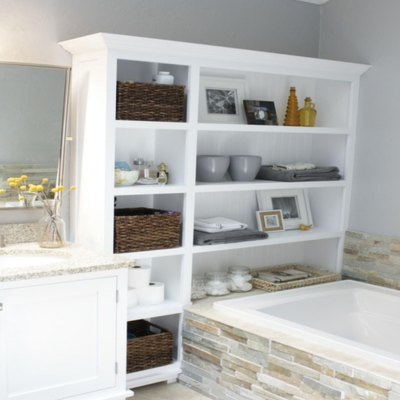 Small Cabinet with 4 Racks for Maximize Your Small Storage Bathroom