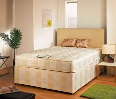 small double bed for small bedroom yellow and white with mattress