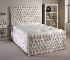 small double bed for small bedroom and mattress white silver