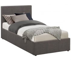 small double bed for small bedroom with grey mattress