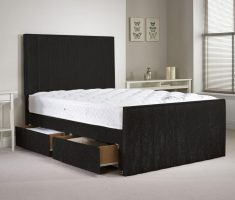 small double bed for small bedroom with storage drawer and mattress