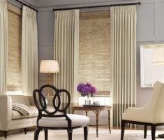 small living room with window treatments for bay windows suit