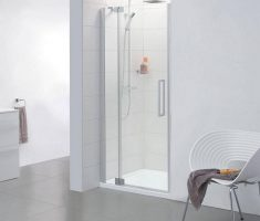 small modern shower door glass part for small space