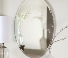 small oval bathroom mirrors frameless