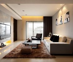 small apartment modern living room design