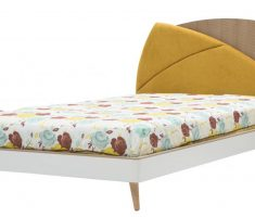stylish small double bed for small bedroom with bed linen floral decoration