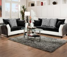 trendy black sofa for living room with white ascent