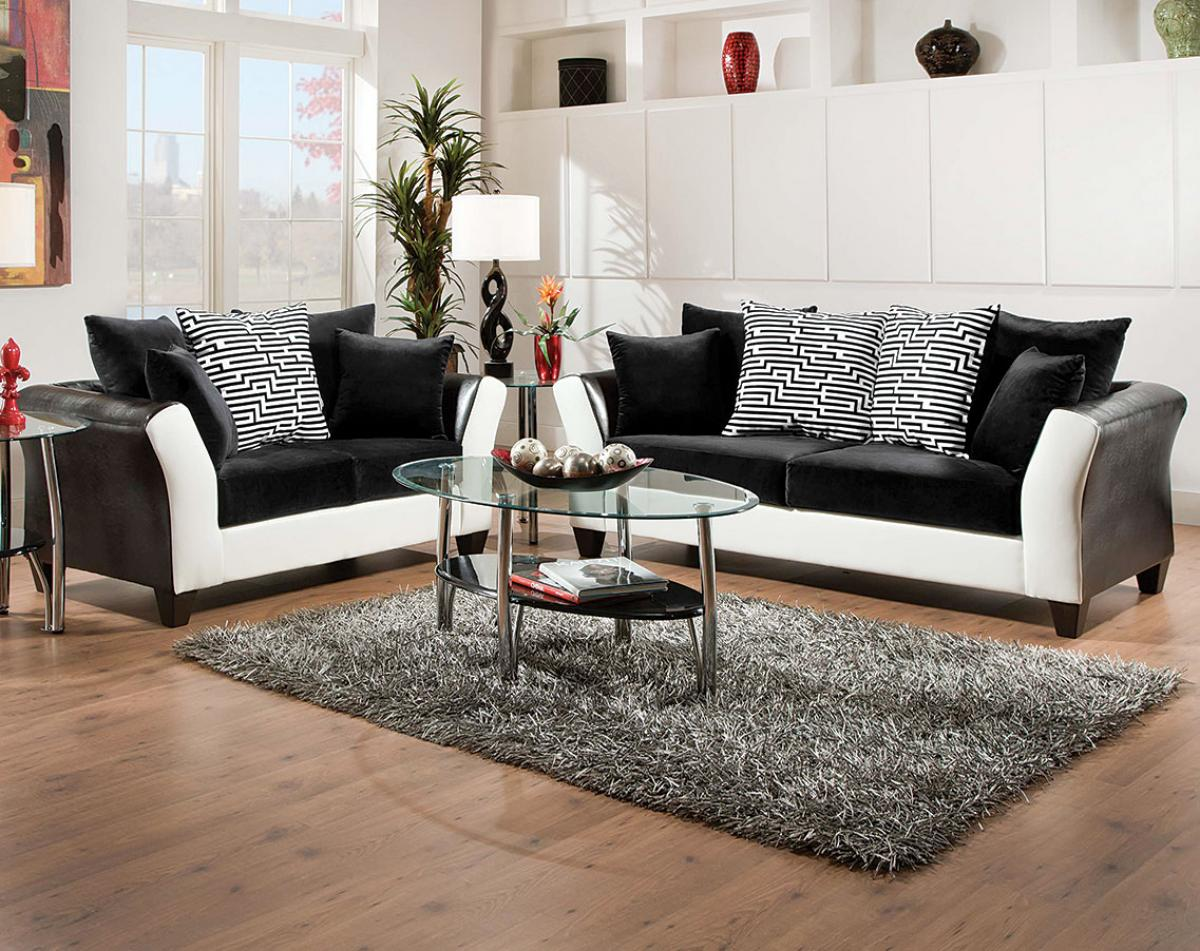 trendy black sofa for living room with white ascent home