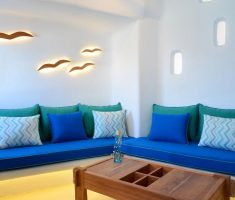 trendy blue sofa furniture for small living room