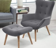 tufted grey accent chairs for living room