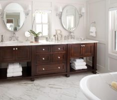 twin oval bathroom mirrors