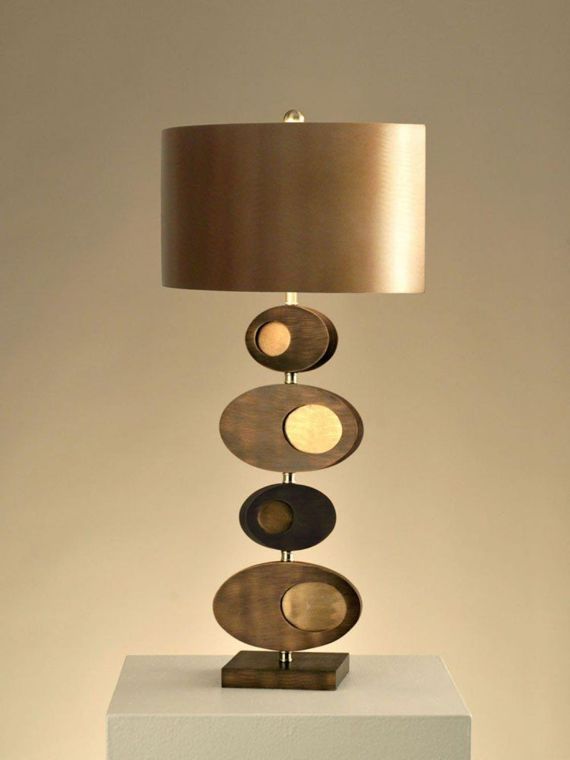 Unique Bedroom Table Lamps Modern Style Gold Scheme