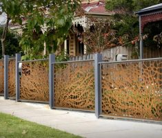 unique metal fence design