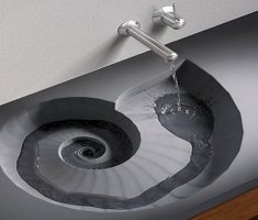 unique vessel sink faucets design with part shell style