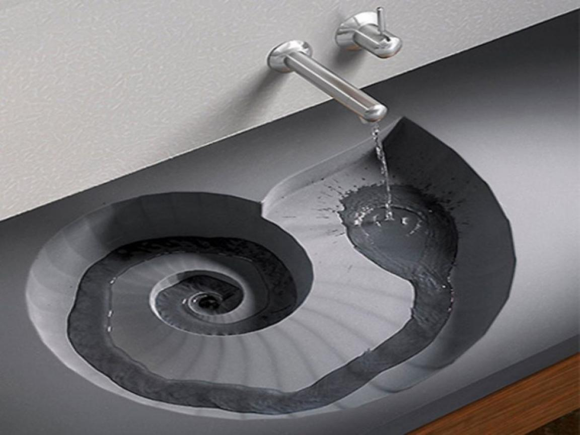 Unique vessel sink faucets design with part shell style for Are vessel sinks still in style 2016