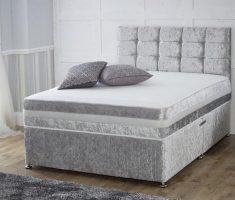 velvet small double bed for small bedroom