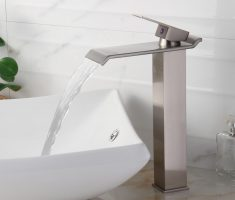 vessel sink faucets chrom material design