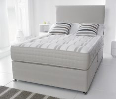 white small double bed for small bedroom with mattress