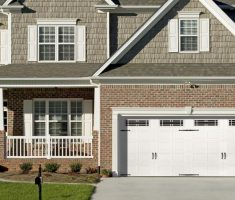 wide white lowes garage doors