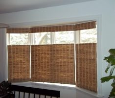 window treatments for bay windows suit with rattan curtain