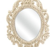 wonderfull oval bathroom mirrors with vintage floral carving framed