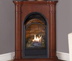 wooden corner propane fireplaces for small fireplace