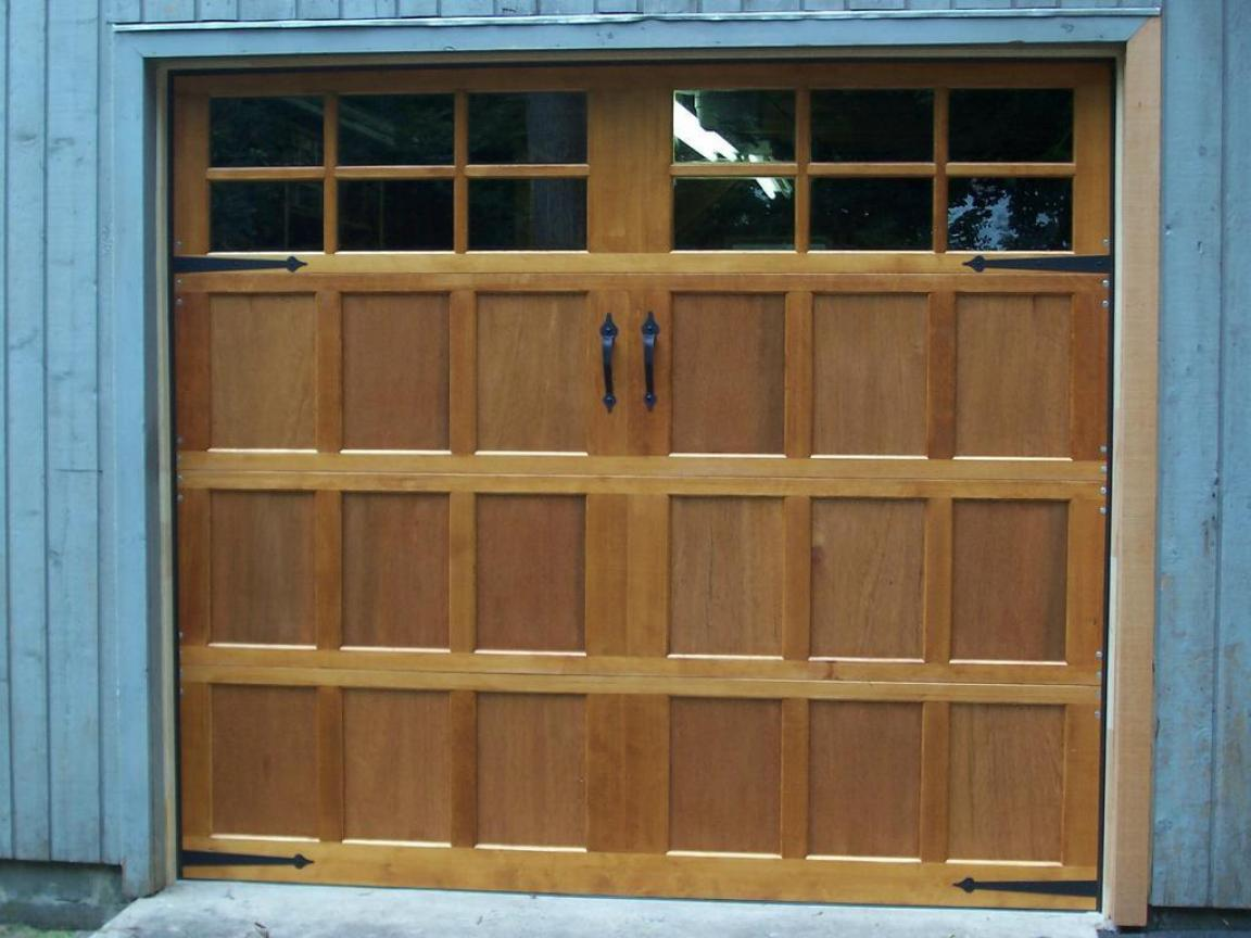 Wooden Lowes Garage Doors With Varnish