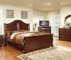 wooden queen bedroom sets with oak furniture and storages