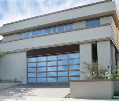 wooden and glass material of raynor garage doors inspirations