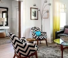 zigzag black and white accent chairs for small living room furniture