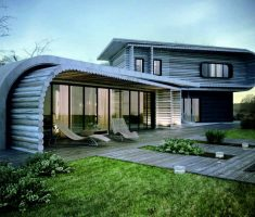 awesome house with unique designs with wooden wall materials